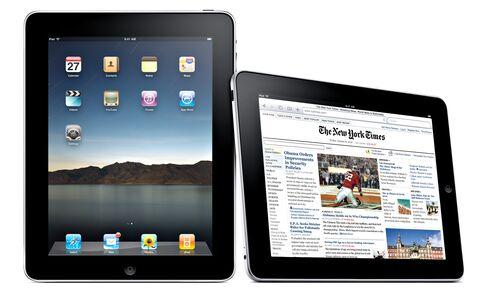 The Apple iPad tablet