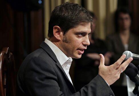 Argentine Economy Minister Axel Kicillof