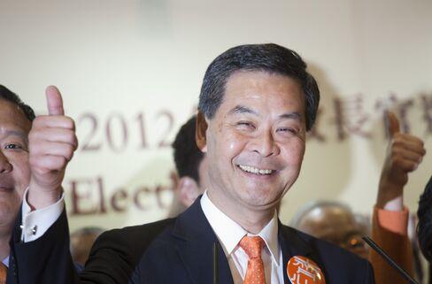 Hong Kong Chief Executive-Elect Leung Chun-ying