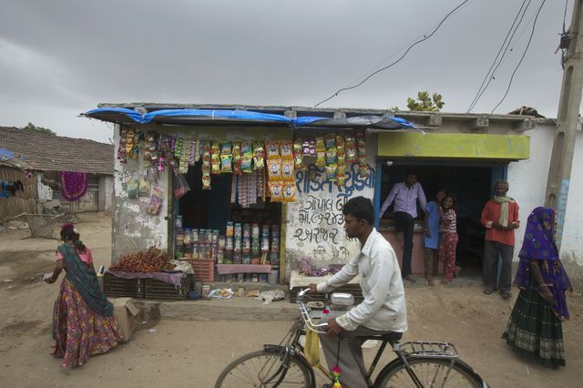 The colors in Gujarat are vibrant. The investment not so much. Photographer: Adeel Halim/Bloomberg