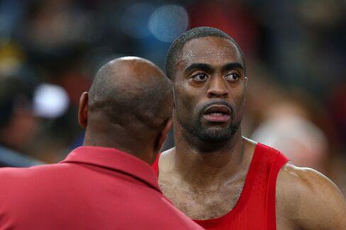 Sprinter Tyson Gay