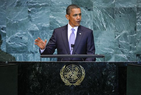 Obama Focuses at UN on Mideast, Currency Friction With China