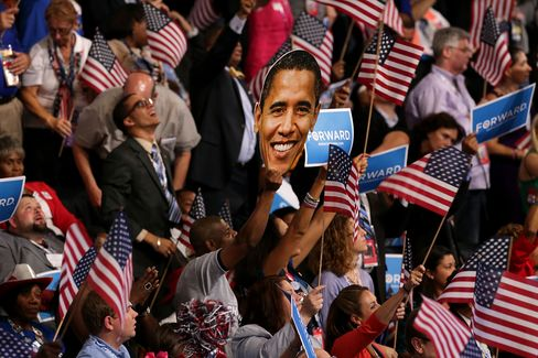 Obama Edges Romney in August Fundraising for Presidential Race