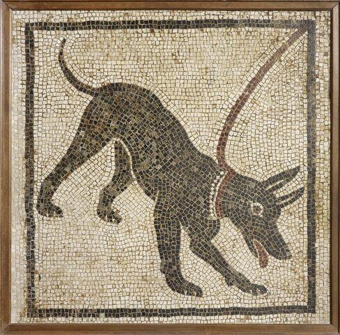 Mosaic of a Guard Dog