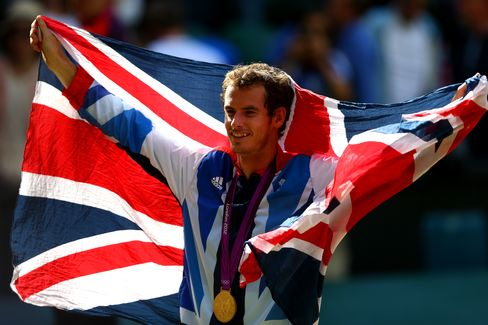 British Olympic Gold Medalist Andy Murray