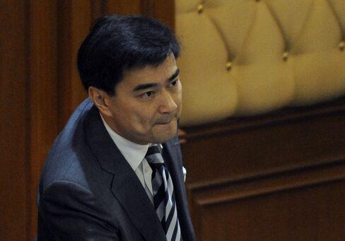 Thailand's Prime Minister Abhisit Vejjajiva