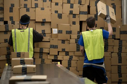 Workers At An Amazon.com Inc. Fulfillment Center