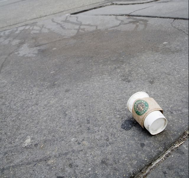 Starbucks's recycling plans, kicked to the curb. Photographer: James Leynse/Corbis