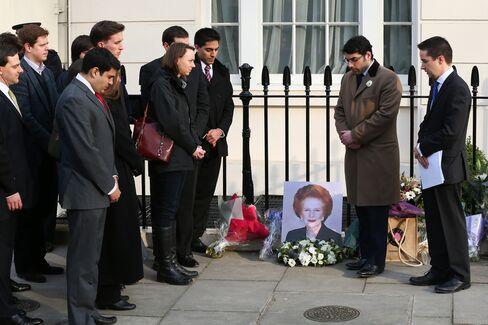 Thatcher Praised by London Financiers for Reviving City Fortunes