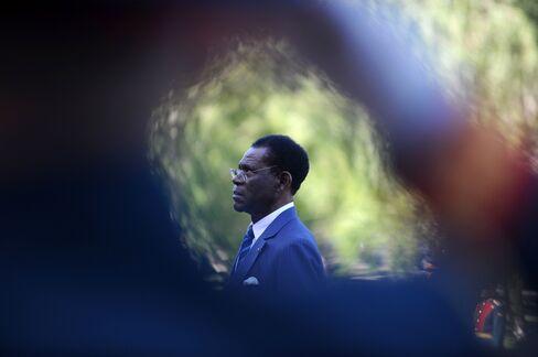 Equatorial Guineas leader Teodoro Obiang Nguema Mbasogo