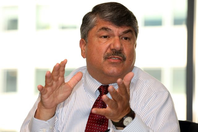 Increasing wages for low-income workers is the smart thing to do, said AFL-CIO President Richard Trumka. Photographer: David Rogowski/Bloomberg
