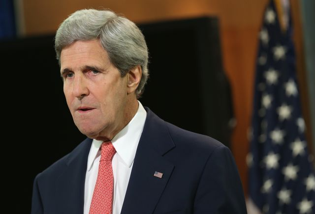 """JohnKerry's not the only one who has used the term """"apartheid."""" Photographer: Alex Wong/Getty Images"""