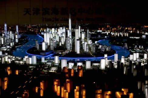 A Scale Model of the Yujiapu Financial District