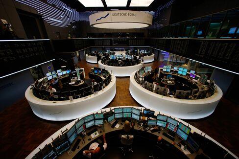 Traders Work at the Frankfurt Stock Exchange