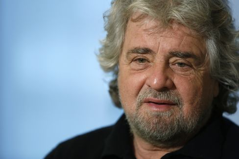 The Five Star Movement Leader Beppe Grillo