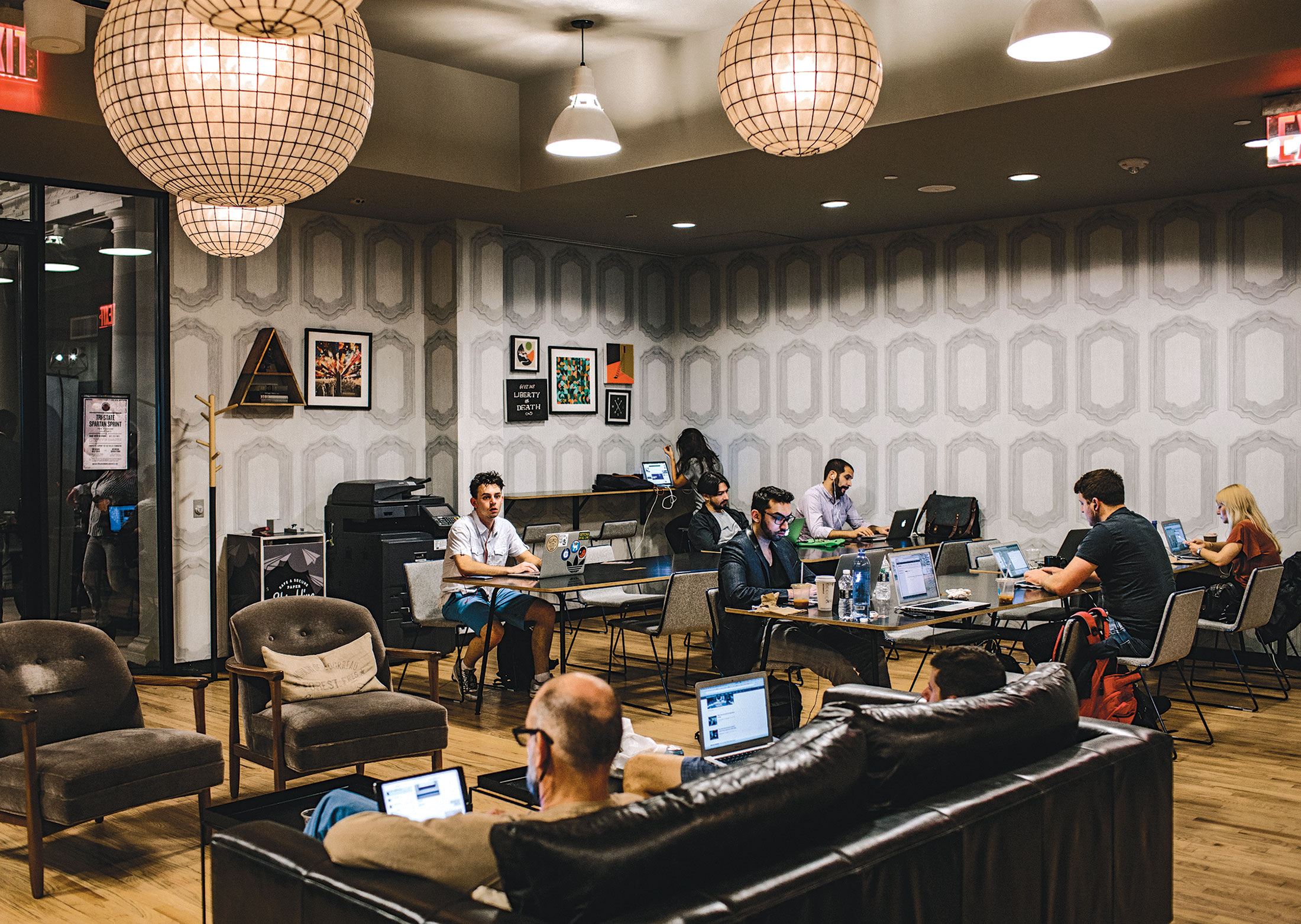 Wework real estate empire or shared office space for a for Small shared office design