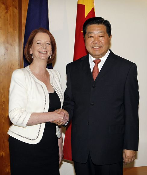 Jia Qinglin and Julia Gillard