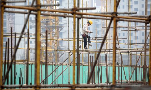 China Developers Rise on Policy Easing Hopes