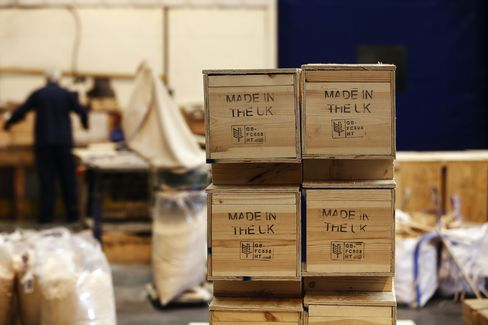Products Sit in Wooden Boxes Stamped 'Made in the UK'