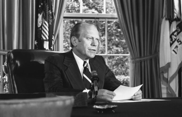 Gerald Ford's charmed career is a notable exception to the rule. Photographer: David Hume Kennerly  Source: Gerald R. Ford Presidential Library and Museum via Bloomberg