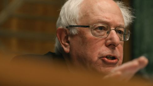 Senator Bernie Sanders speaks on Capitol Hill on Feb. 3, 2015.