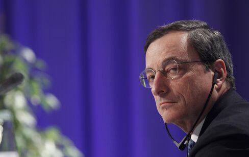 Italy Central Bank Governor Mario Draghi