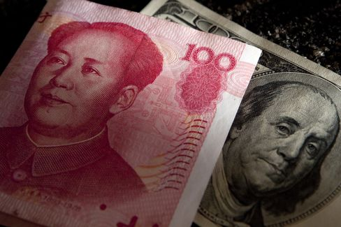 Yuan Steady After Central Bank Raises Fixing by Most in a Week