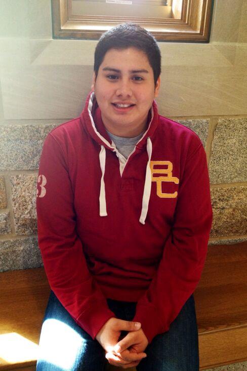 Boston College Junior Octavio Brindis
