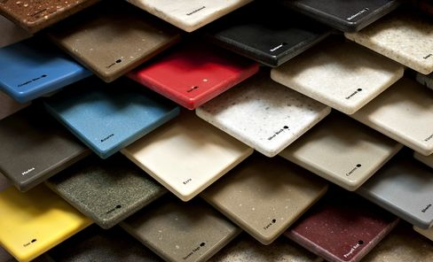 DuPont Co.'s Corian Countertops Samples Sit in a Store