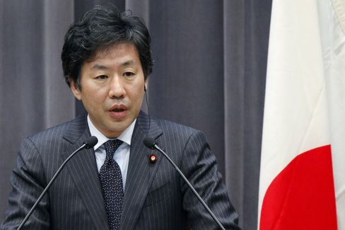 Japan's Finance Minister Jun Azumi