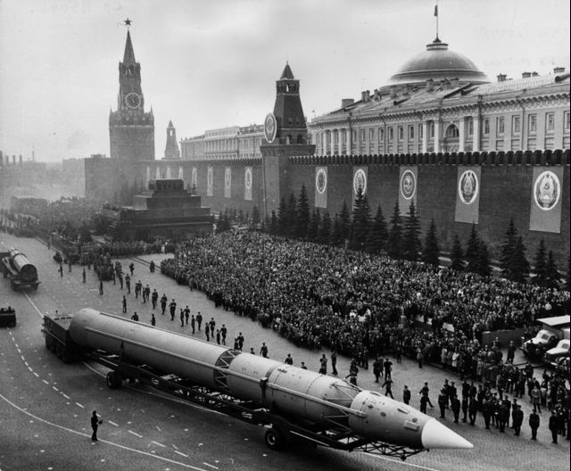 Today's nuclear missiles, like these ones, should be historical artifacts. Source: Central Press via Getty Images