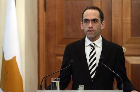 Cyprus' Finance Minister Haris Georgiades