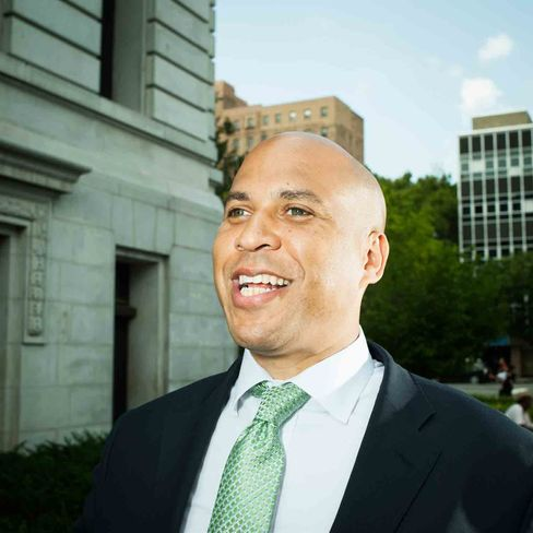 Cory Booker, a Rhodes Scholar and lifelong Democrat, is in the middle of his second term as mayor of Newark, New Jersey.  Political analysts say he may challenge Republican Gov. Chris  Christie in 2013. Photographer: Brian Finke/Bloomberg Markets via Bloomberg