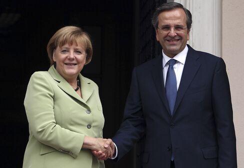 Chancellor Merkel and Prime Minister Samaras