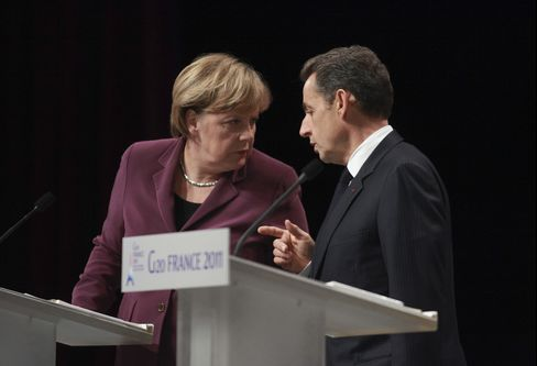 Merkel, Sarkozy to Move Forward on Euro Rescue Master Plan
