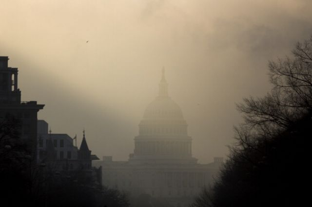 This forecast is murky.Photographer: Andrew Harrer/Bloomberg