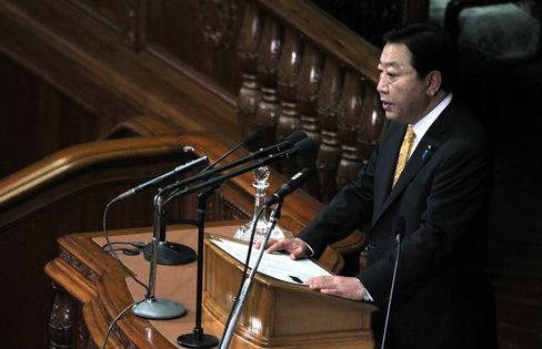 Japan's Prime Minister Yoshihiko Noda