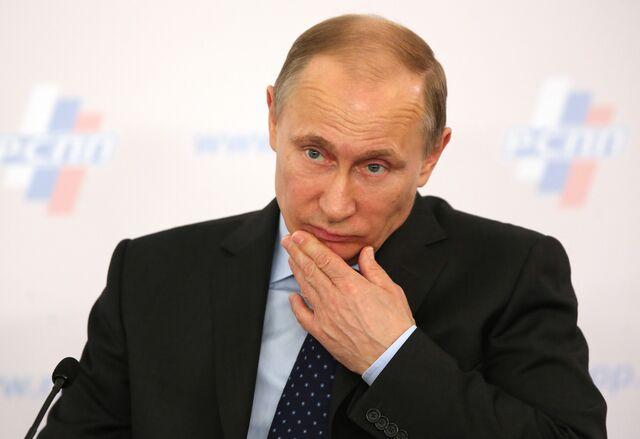 Vladimir Putin: Check and mate, comrade. Photographer: Andrey Rudakov/Bloomberg
