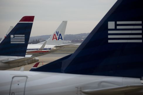 American Airlines And US Airways Planes