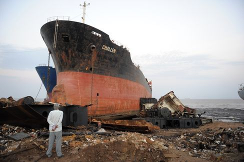 Ship-Scrapping Prices Fall as Glut Spurs Buyer's Market