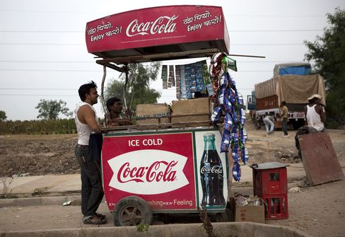 Indian Coca-Cola stall