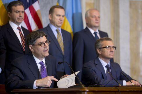 U.S. Tres. Sec. Jacob Lew & Ukraine's Fin Min Oleksandr Shlapak