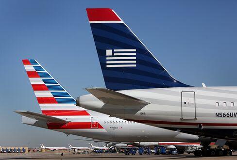 AMR-US Airways Seen by U.S. as Pinching Fliers in Merger Too Big
