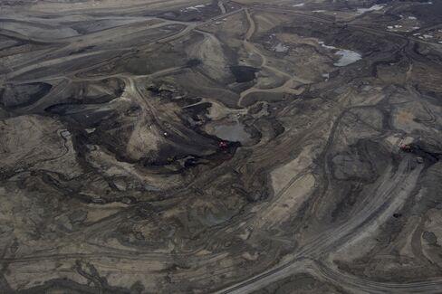 Oil is Mined in Alberta