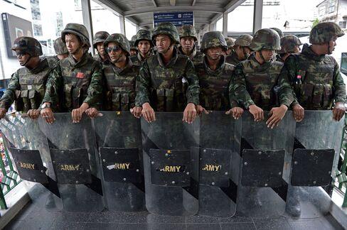 Soldiers in Bangkok