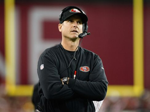 San Francisco 49ers Coach Jim Harbaugh