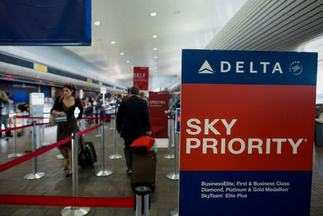 Pay more at Delta, get more at Delta. Photographer: Ron Antonelli/Bloomberg