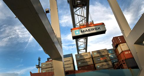 Container-Ship Plunge Signals U.S. Slowdown: Freight Markets