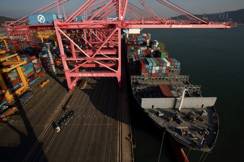 Busan New Port terminal in South Korea