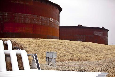 Storage Tanks at the Cushing Terminal
